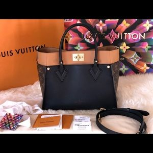 NEW Authentic Louis Vuitton On My Side Tote Noir